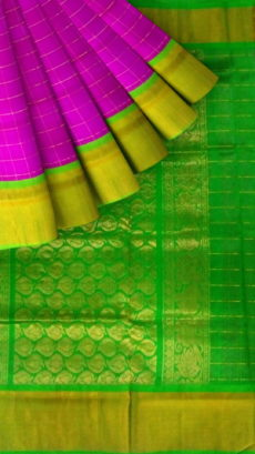 Light Green & Pink Designer Traditional Silk Cotton Saree-yespoho