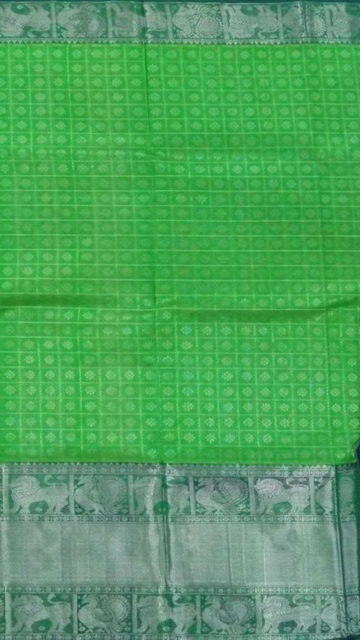 Yespoho Royal Blue & Light Green Designer Traditional Silk Cotton Saree