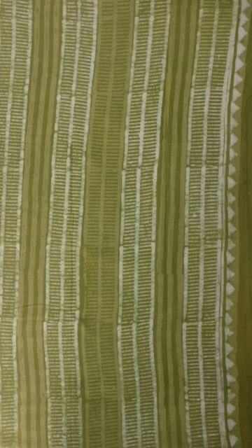 Forest Green Forest Green  Flower pattern Dabu Mud Designer printed cotton saree.