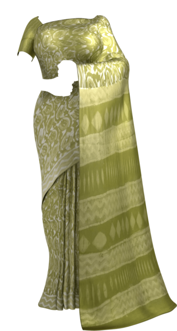 Forest Green wave pattern Dabu Mud Designer printed cotton saree. Soft Cotton Saree Thanksgiving Winter Sale Yespoho Sarees Handpicked Collections New Arrivals