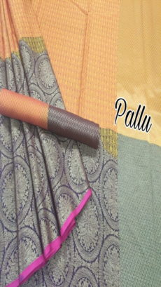 Orange Gold Maheshawari Tanchui Kora Muslin Half And Half Silk Sarees-yespoho