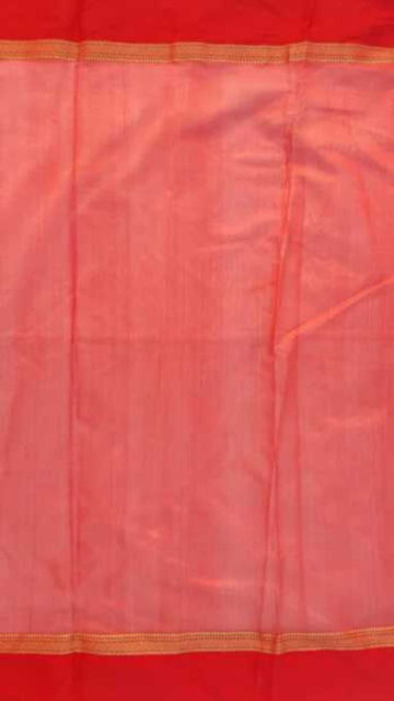 Shop Red, White Traditional  Plain silk saree Online