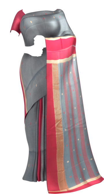 Red ,GreyTraditional  ButI cotton silk saree. Maheshwari Sarees Yespoho Sarees