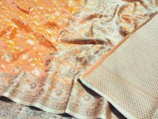 Yellow Hand woven Design Saree-yespoho