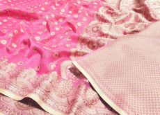 Light Pink Silk Cotton Hand Woven  Design Saree-yespoho