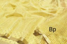 Yellow Hand Woven  Banarasi Semi Silk Saree-yespoho