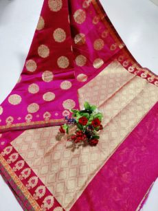 Rani  Maheswari Cotton With Zari Butta Sarees-yespoho