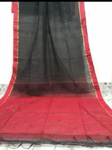 Black & Red Silk Cotton Zatika-yespoho